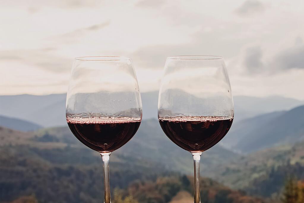 Enoturismo: taças de vinhos e viagens